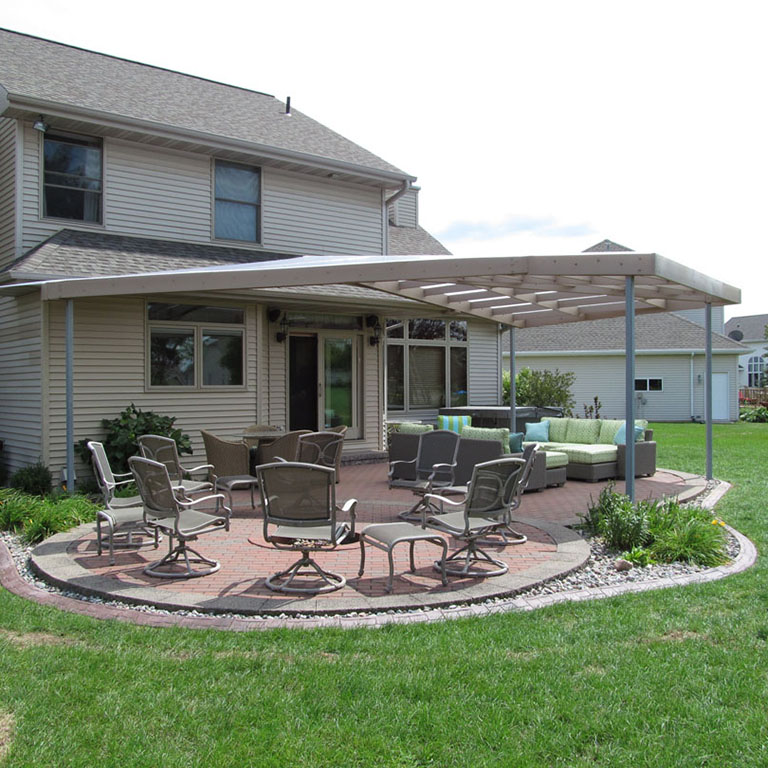 multiwall polycarbonate patio cover