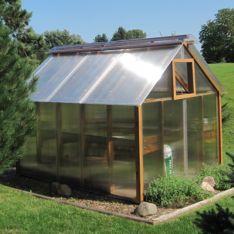 Multwiall polycarbonate hobby greenhouse