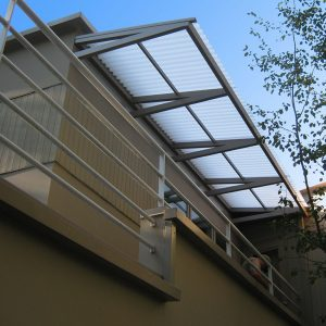 Corrugated polycarbonate deck cover