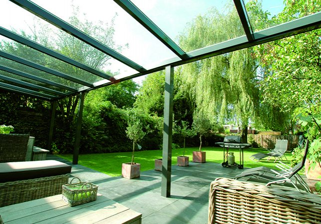 clear polycarbonate patio roof
